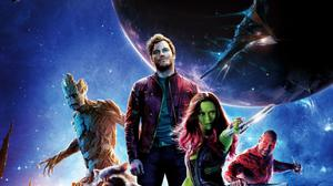 Chris Pratt In Guardians Of The Galaxy Poster HD Image Free Wallpaper