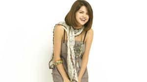 Selena Gomez Girl Scarf Laugh Hair Free HQ Image