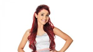 Ariana Grande Sporting Red Hair HQ Image Free Wallpaper