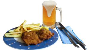 Food Dishes French Fries And Beer Mug Download Free Image