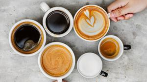 Six White Ceramic Mugs With Coffee Wallpaper Download Free