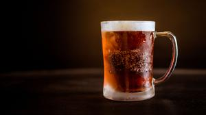 Cold Mug Of Beer And Dark Background Download Free Image