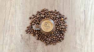 Flat Lay Photo Of Mug Surrounded By Coffee Beans Free Transparent Image HD